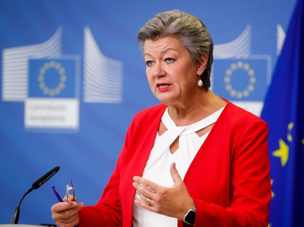 La comisaria europea de Interior, Ylva Johansson.