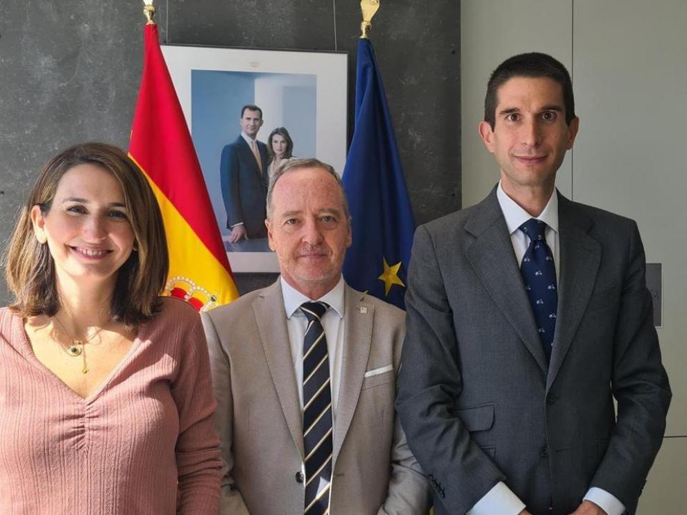 El concejal Lasaosa tras la reunión en Madrid con los máximos responsables de su organización