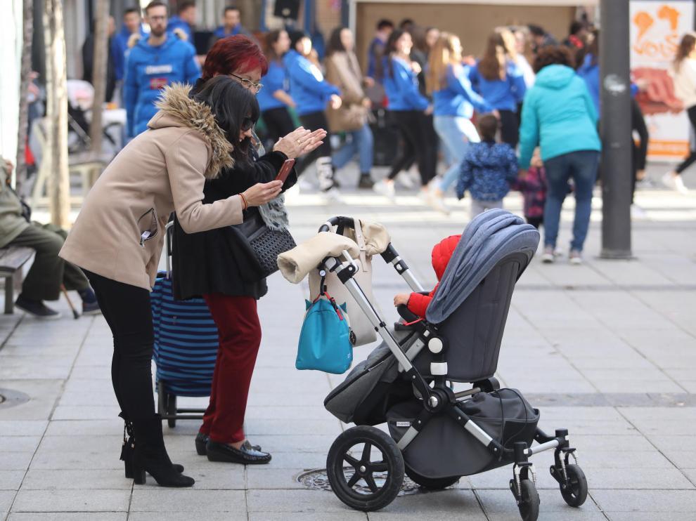 Foto de archivo de un bebé. La cifra de partos crece mucho este año, pero en 2020 llegó al mínimo.