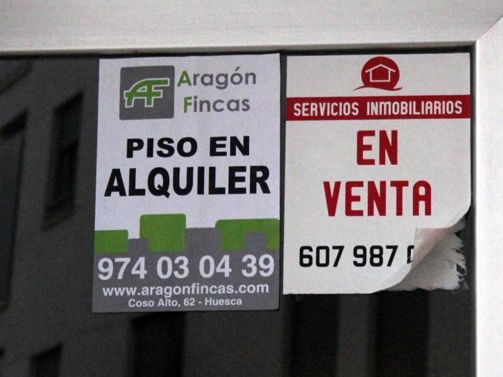 Los desahucios de alquiler en la provincia de Huesca siguen creciendo y son ya casi el 60 %