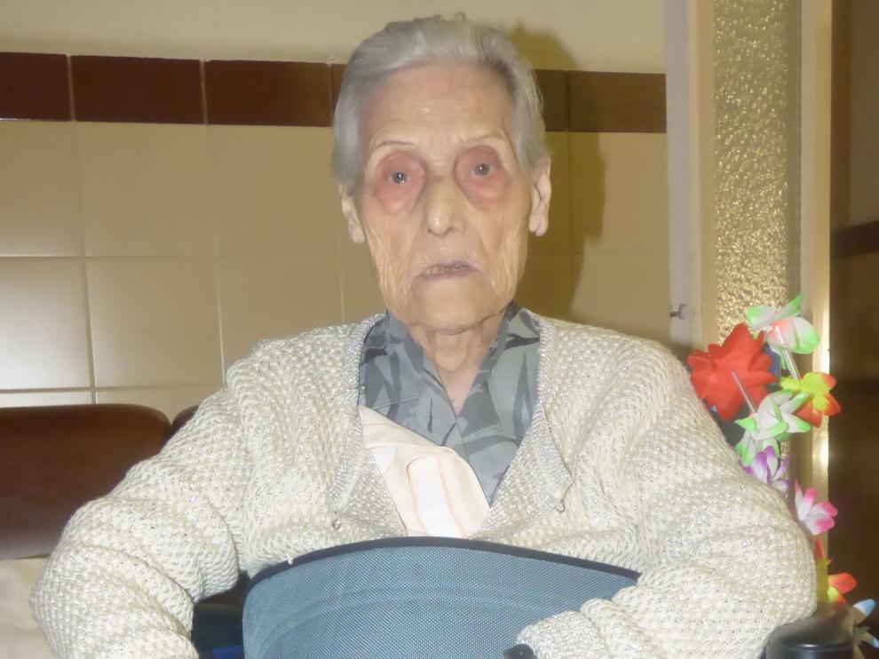 Pilar Domper, segunda centenaria residente en Castillazuelo que muere en un mes