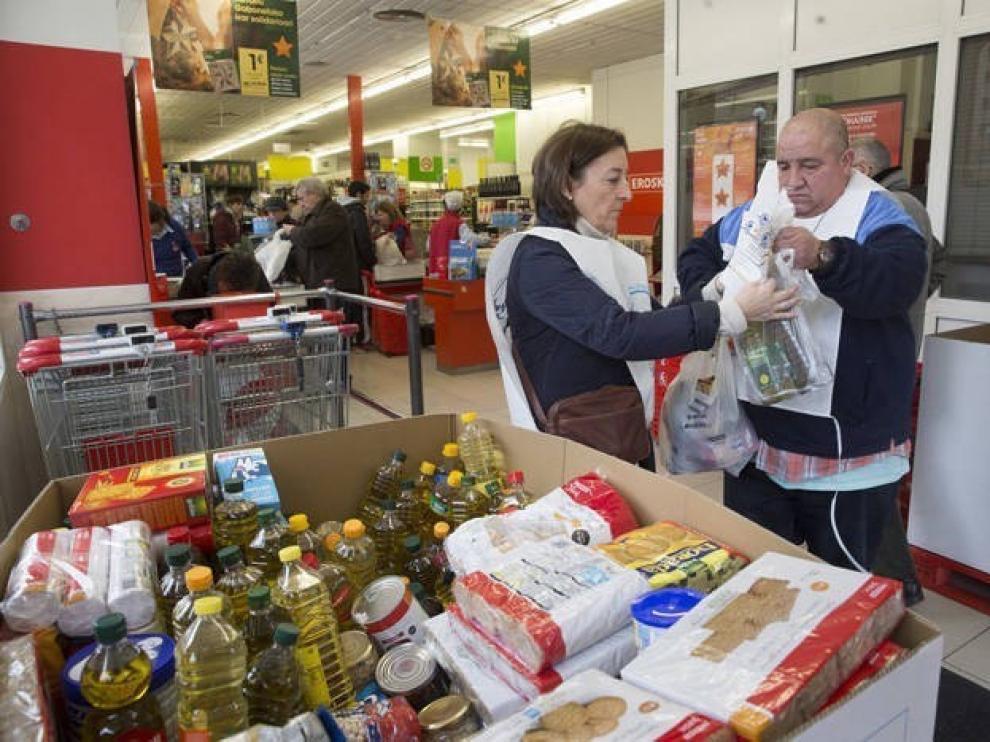 Más de 2.700 vecinos de la provincia de Huesca se beneficiarán del reparto de 72 toneladas de alimentos