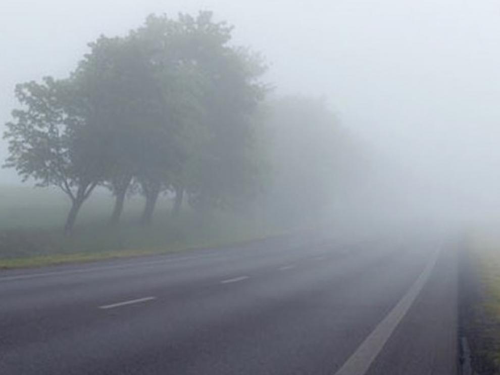 Alerta por nieblas intensas en la provincia de Huesca