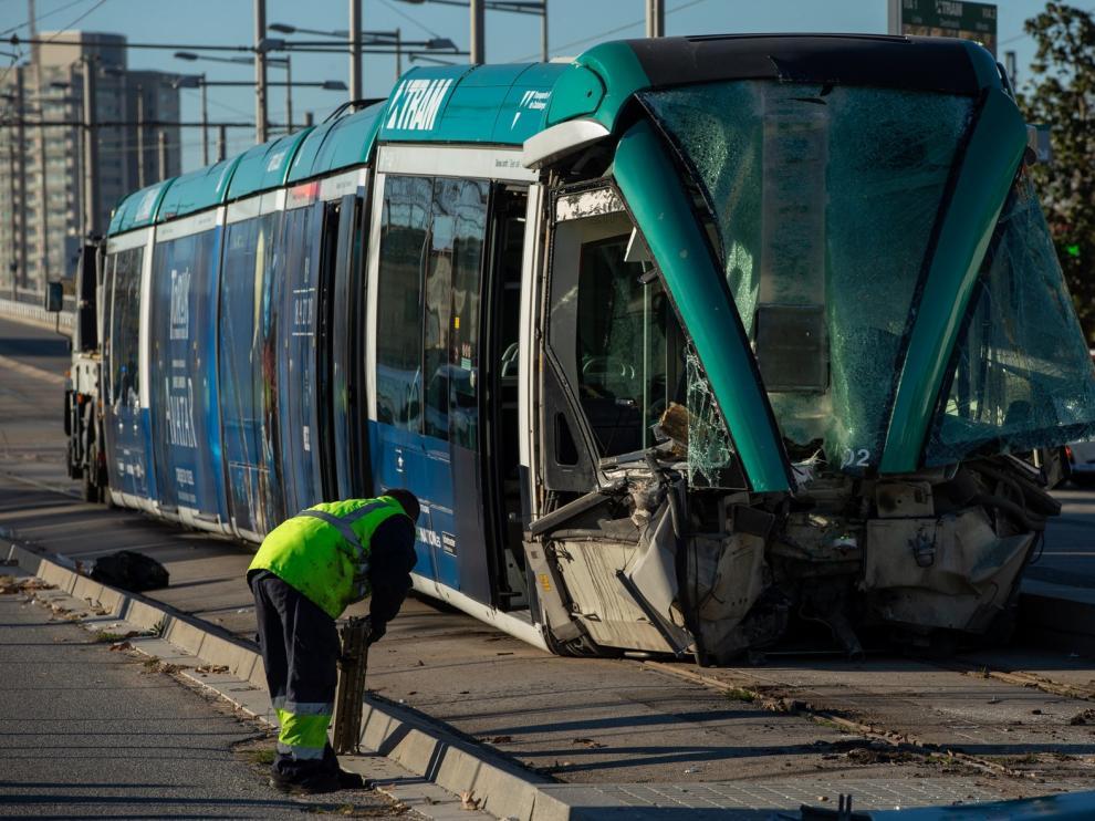 El accidente de un tranvía en Barcelona causa cuatro heridos