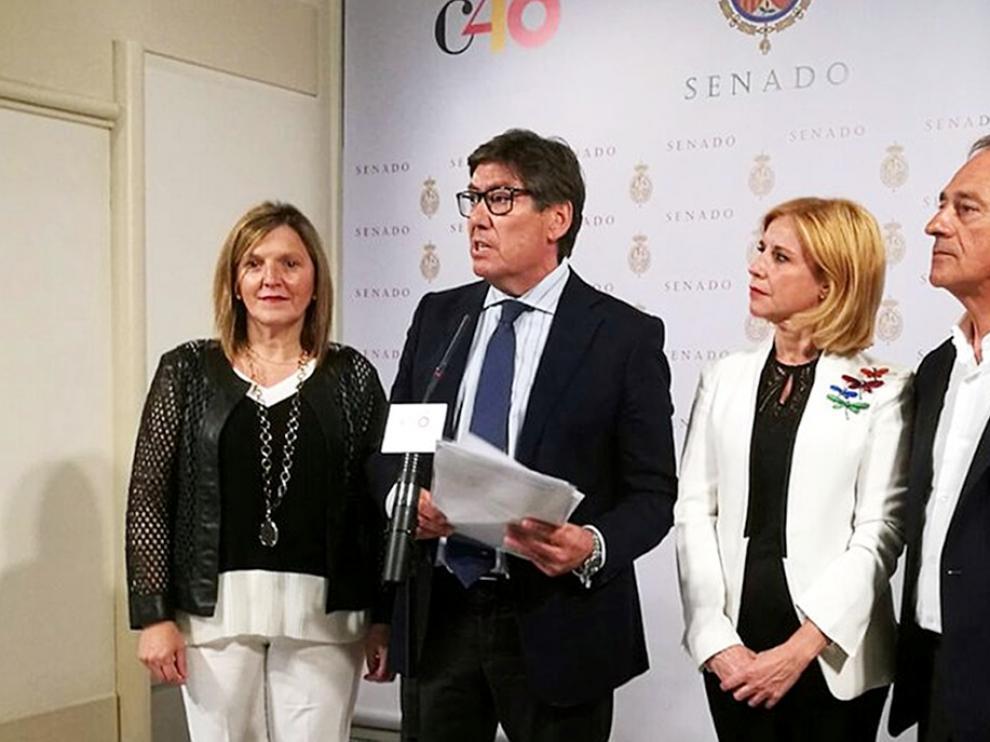 Aliaga pide a Fomento que invierta la partida para infraestructuras que el PAR logró para la provincia de Huesca