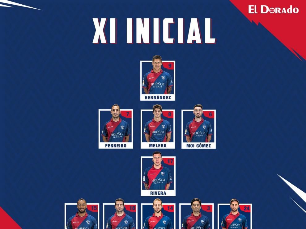 Pulido, novedad en el once del Huesca ante el Betis