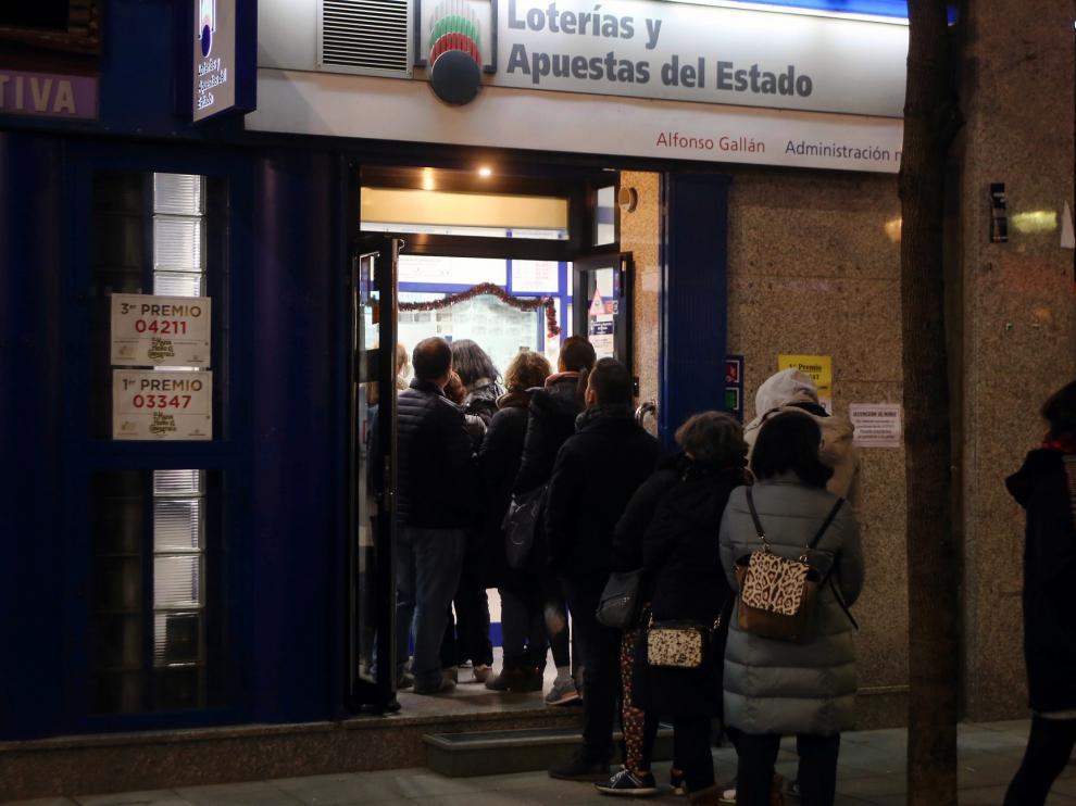 """Cada aragonés gasta una media de 22,84 euros en la Lotería de """"El Niño"""""""
