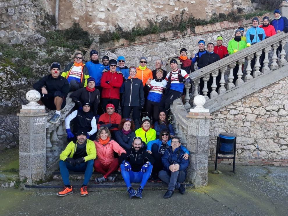 El CA Barbastro-Julián Mairal inicia su calendario anual con la tradicional subida al monasterio de El Pueyo