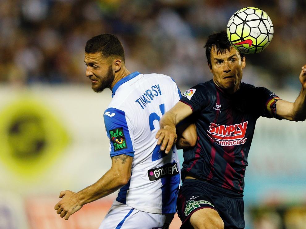 El Huesca juega un encuentro de seis puntos en Butarque