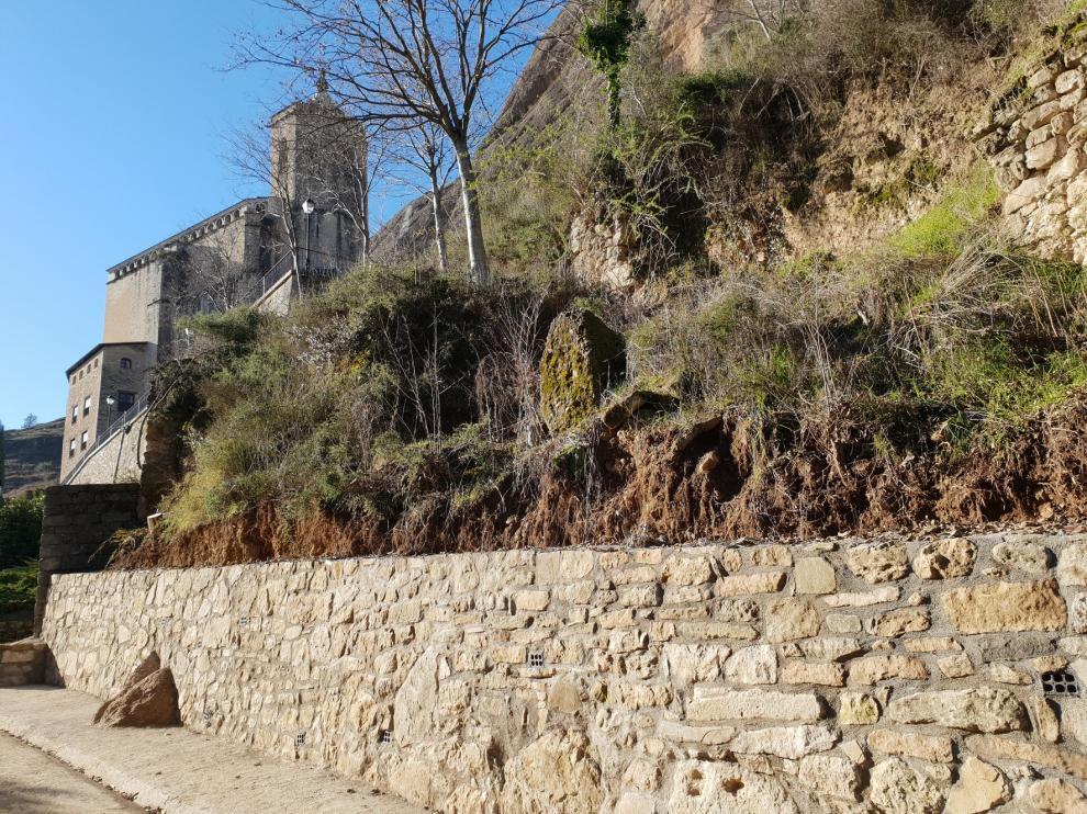 Más seguridad en el acceso peatonal a la basílica de la Peña