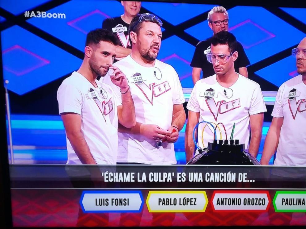 """Cuatro jóvenes de Sariñena se llevan el aplauso de """"Los Lobos"""" en el programa """"¡Boom!"""""""