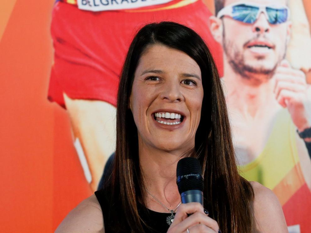 La atleta Ruth Beitia, candidata del PP a la Presidencia de Cantabria