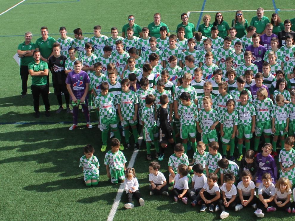 La ED La Litera presentó sus diversos equipos de fútbol, multideporte y psicomotricidad