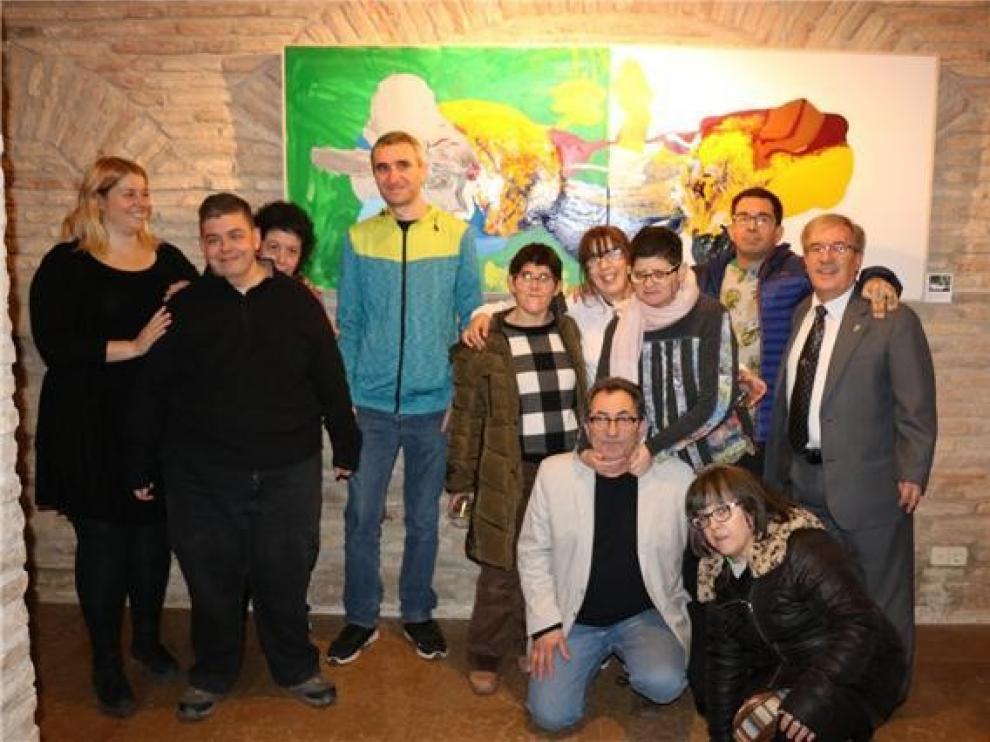 """La sede del Justicia de Aragón expone """"Abstracción emocional"""", del taller de Atades Huesca"""