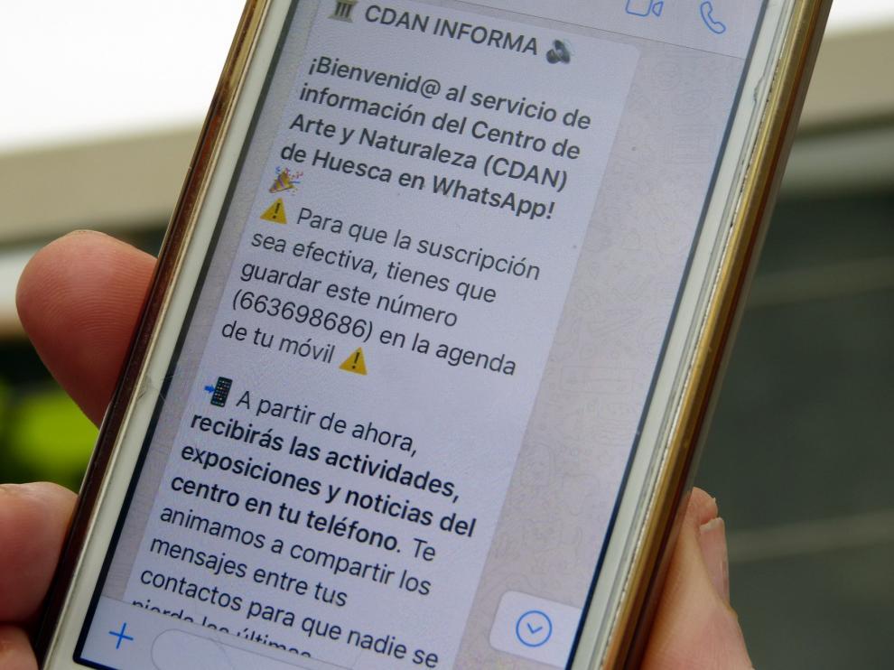 El CDAN pone en marcha un pionero servicio de comunicación en WhatsApp