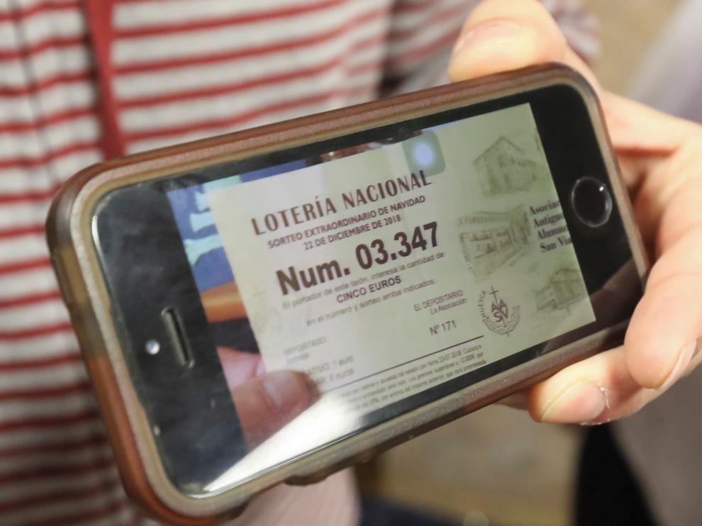 El cobro del Gordo en Huesca, en fase de comprobación de participaciones
