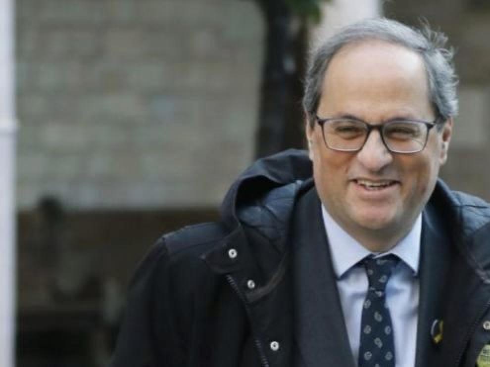 Torra avisa de que sin una propuesta de Sánchez no permitirán la tramitación de los Presupuestos Generales del Estado