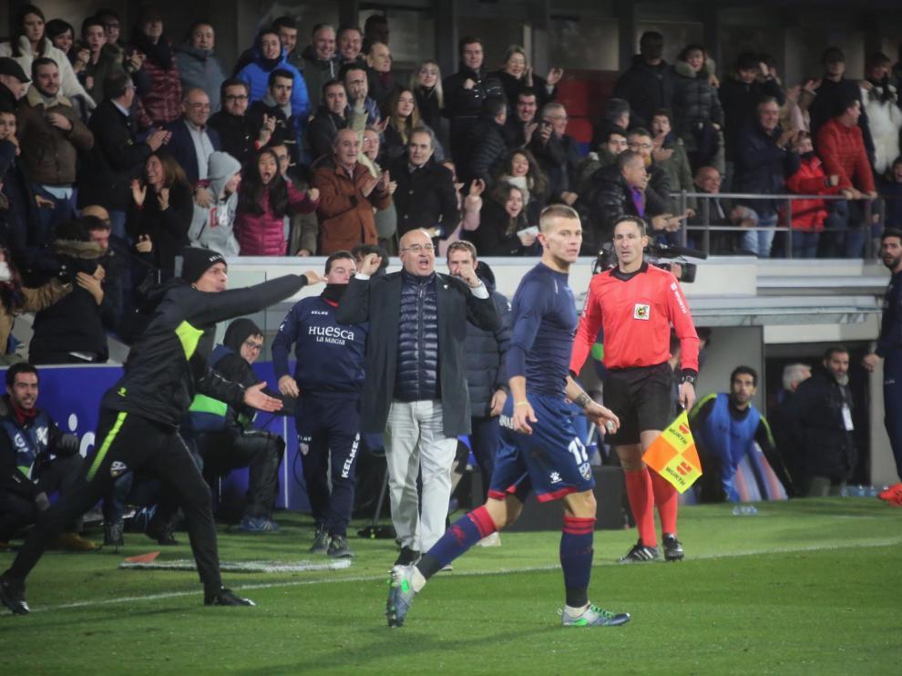 Los delanteros del Huesca, los menos efectivos de toda la categoría