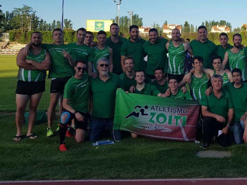 El equipo masculino de Intec-Zoiti de atletismo aparece en segunda posición