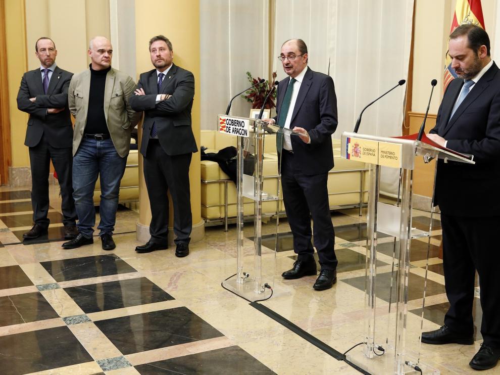 Zaragoza acogerá una reunión del cuatripartito para hacer un seguimiento de la reapertura del Canfranc