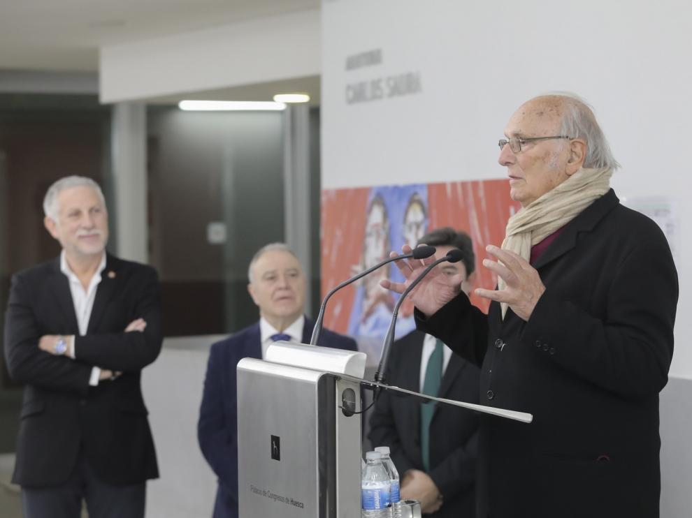 El Auditorio del Palacio de Congresos de Huesca ya lleva el nombre de Carlos Saura