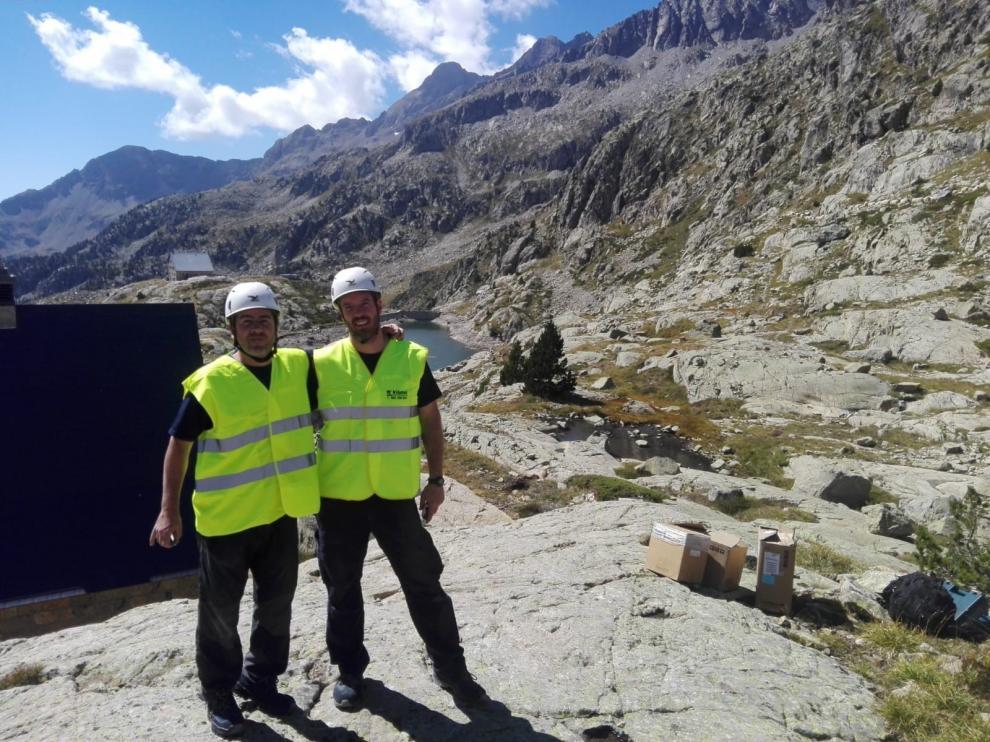 """David Campillos y Eduardo Beltrán, socios de Piritec: """"En el medio rural te tienes que currar el trabajo y no dedicarte solo a una cosa"""""""