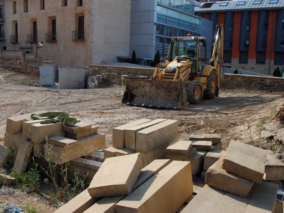 El Consistorio de Huesca reparará el daño en Jardín del Obispo
