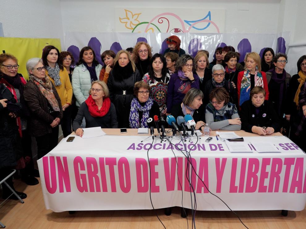 Movilización feminista en Huesca contra el pacto andaluz de PP, Ciudadanos y Vox