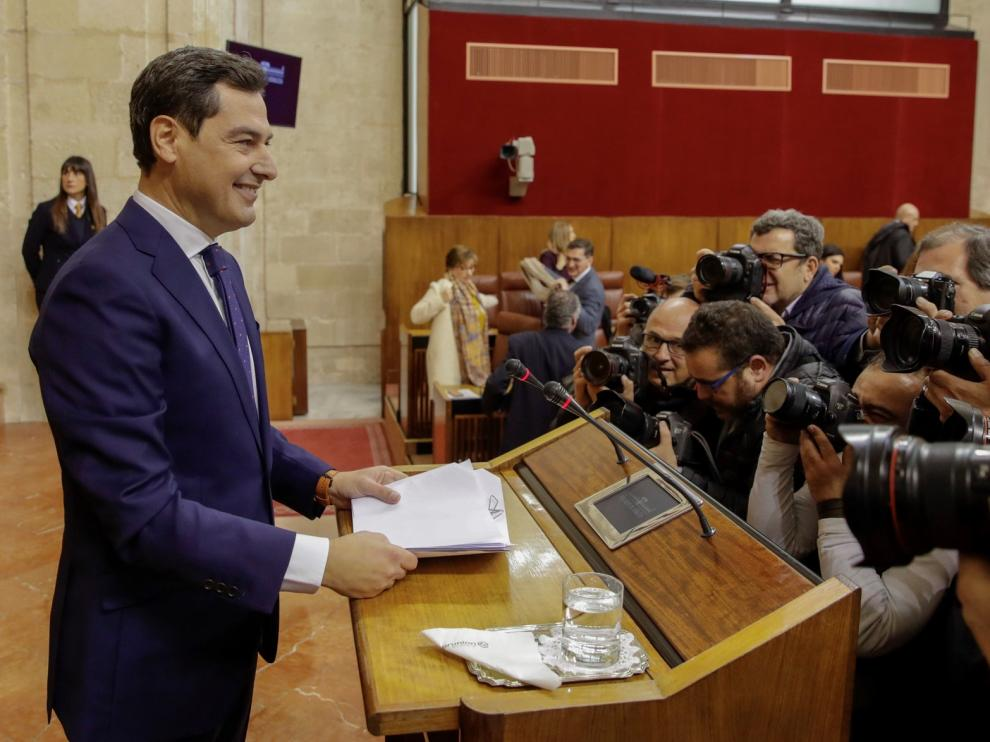 """Moreno plantea una transición andaluza """"sin complejos ni cordones sanitarios"""""""