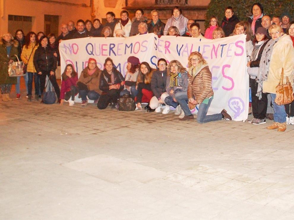 Apoyo en la provincia de Huesca a la concentración en Andalucía por los derechos de las mujeres