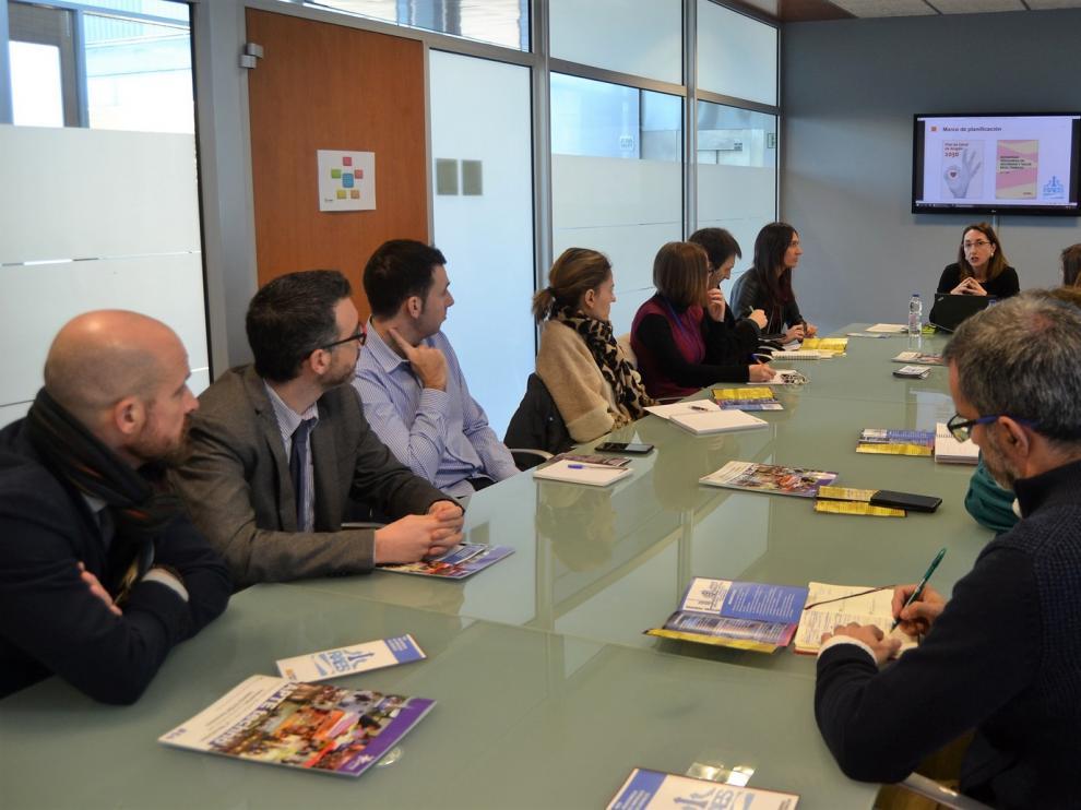 La directora general de Trabajo explica en Walqa las ventajas de la Red Aragonesa de Empresas Saludables