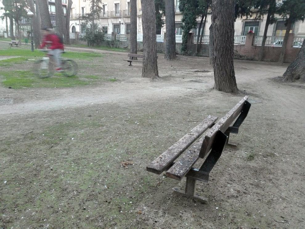 """Cambiar Huesca denuncia la """"degradación y suciedad"""" del Parque Miguel Servet"""