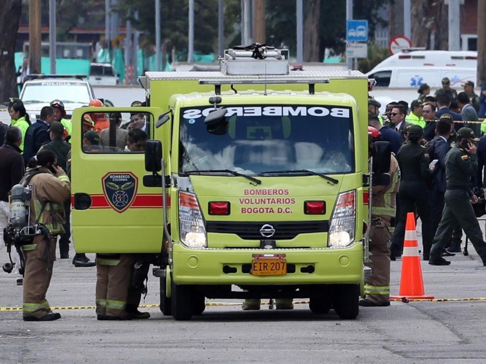 Diez muertos y 65 heridos en un atentado en Bogotá