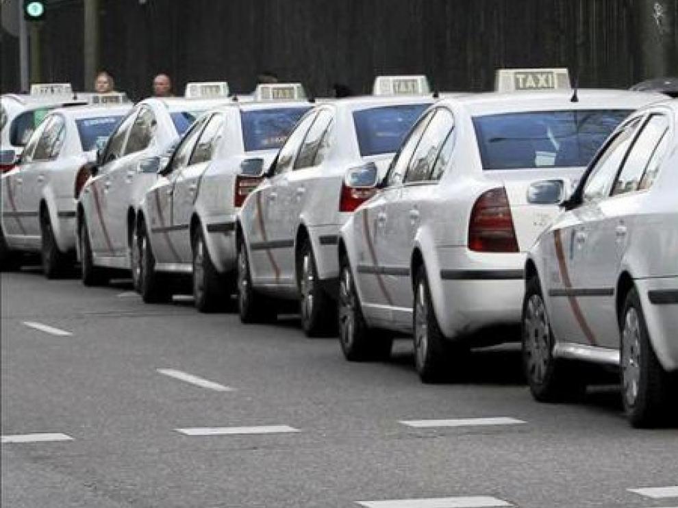 Huelga indefinida de los taxistas de Madrid