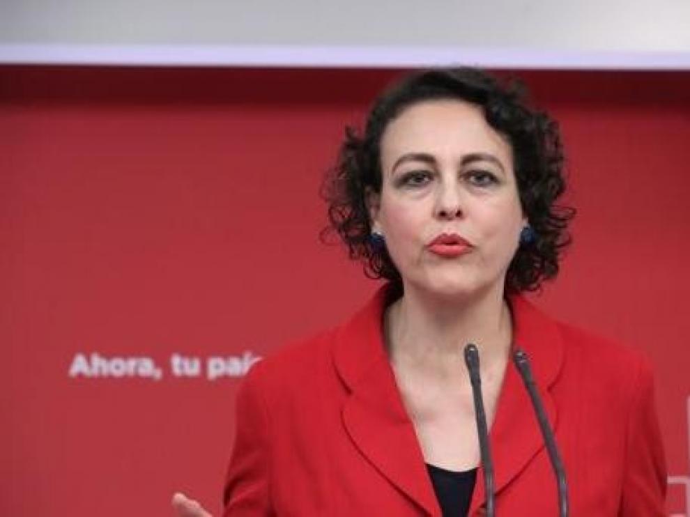 Magdalena Valerio detallará en Huesca las mejoras sociales que contemplan los Presupuestos