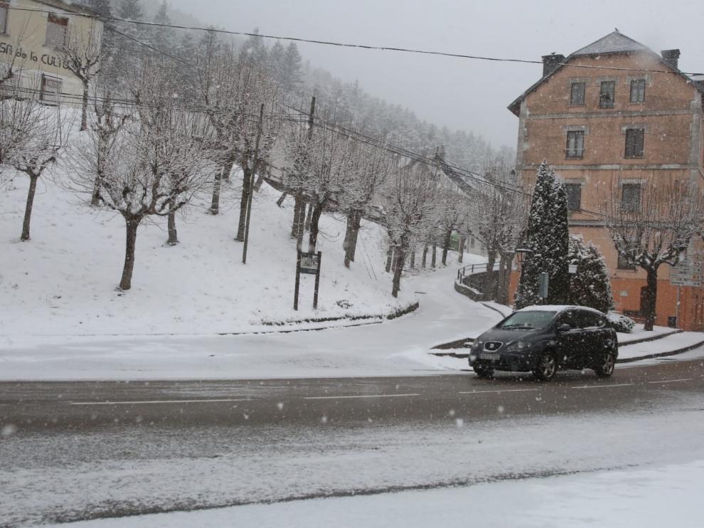 El anunciado temporal de frío y nieve ha entrado en la provincia