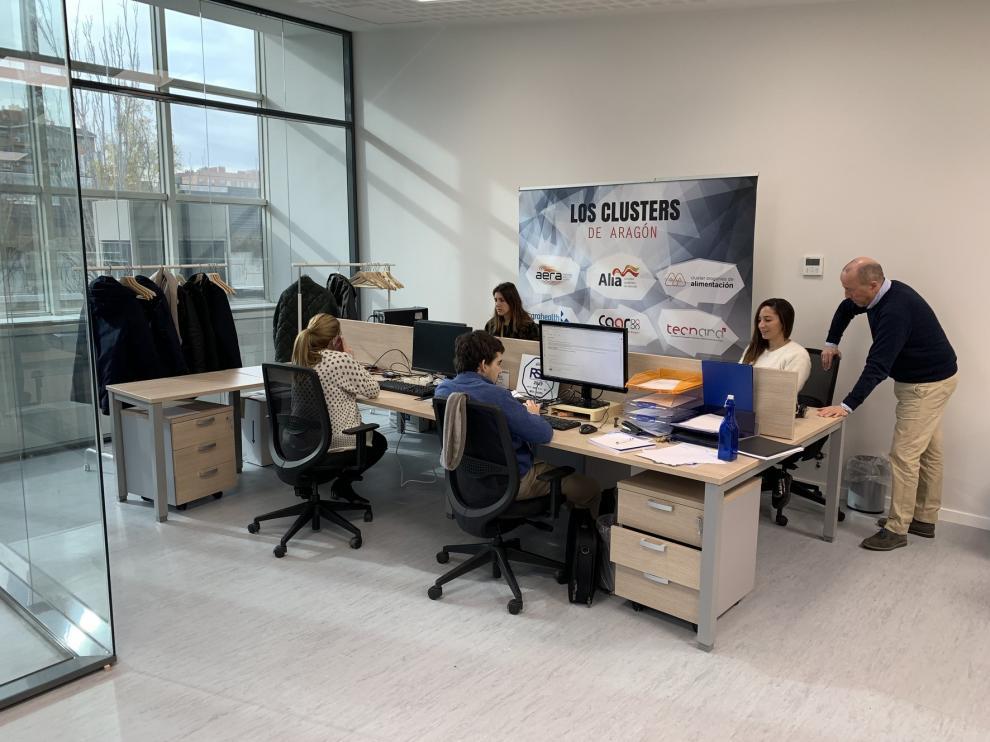 Los ocho clusters aragoneses trabajan ya desde el Centro Europeo de Empresas en Innovación