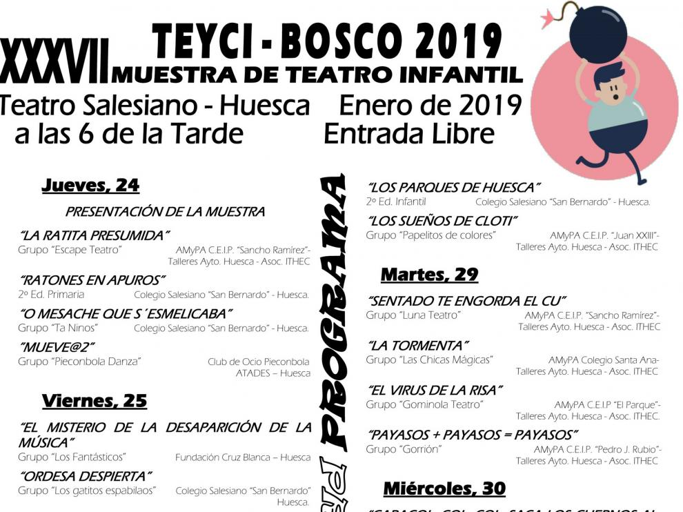 """La 37ª edición del """"Teyci-Bosco"""" reunirá desde el jueves a cerca de 425 actores entre niños y jóvenes"""