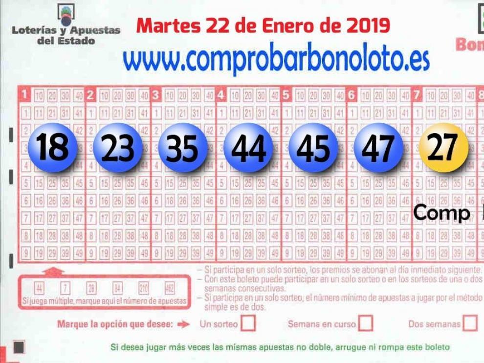 La Bonoloto deja un premio de 56.860 euros en Gurrea de Gállego