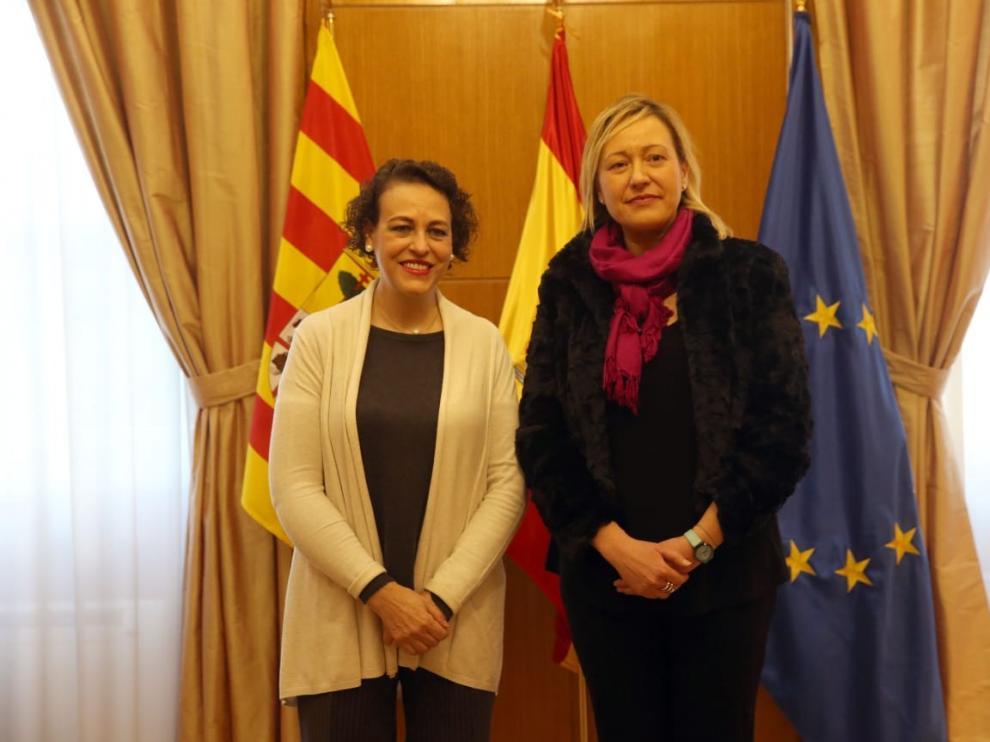 """Aragón y el Gobierno intensifican su colaboración para lograr un empleo """"digno y de calidad"""""""