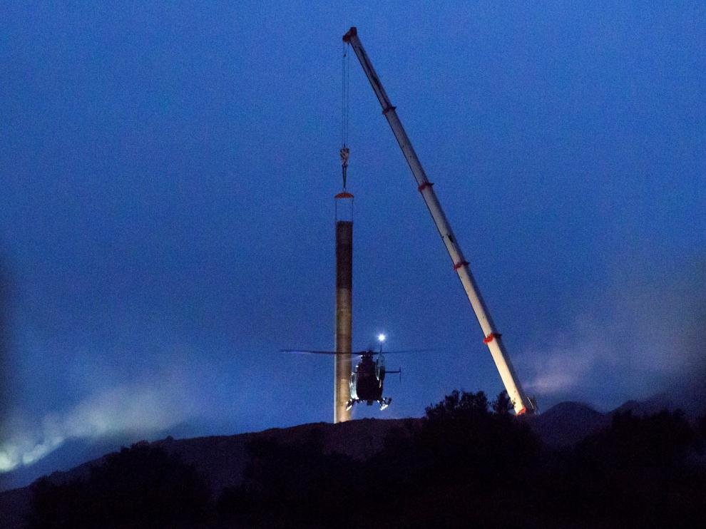 Concluye el entubado del pozo para el rescate de Julen previo a la entrada de los mineros