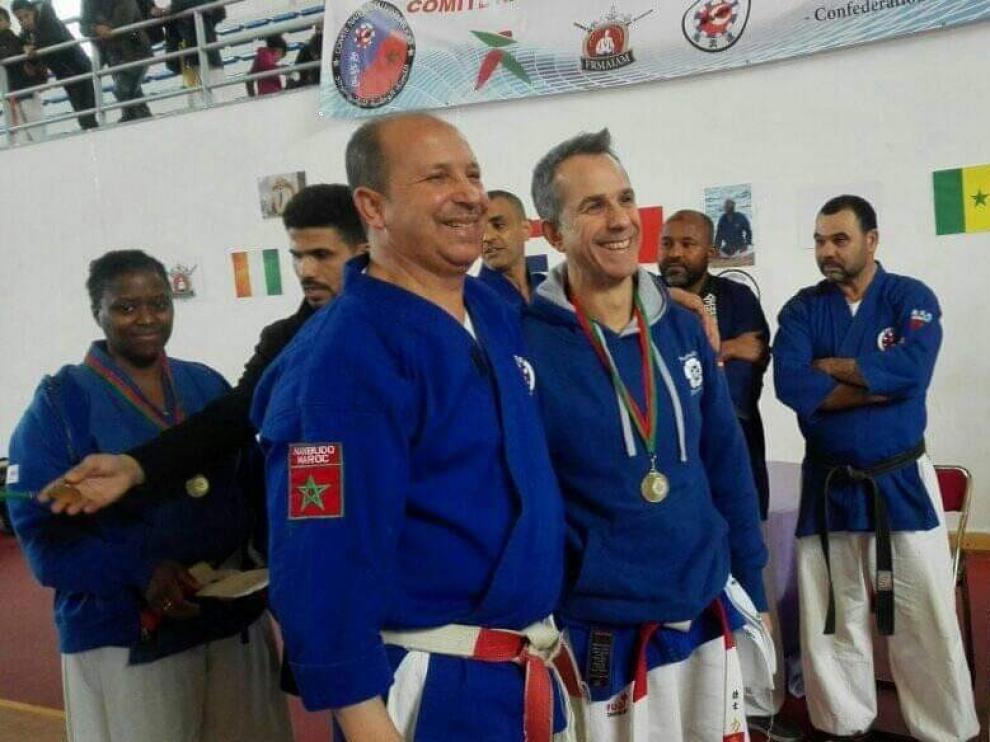 Carrasco asistió a Nanbu en el curso de Marruecos