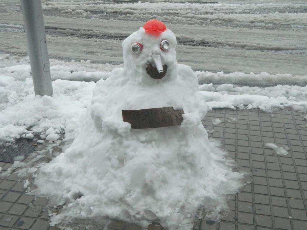 Muñeco de nieve anuncio