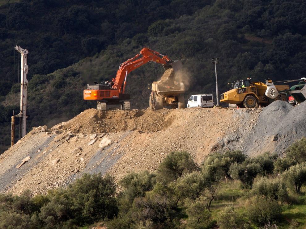 Los mineros inician sus trabajos para rescatar a Julen en Totalán