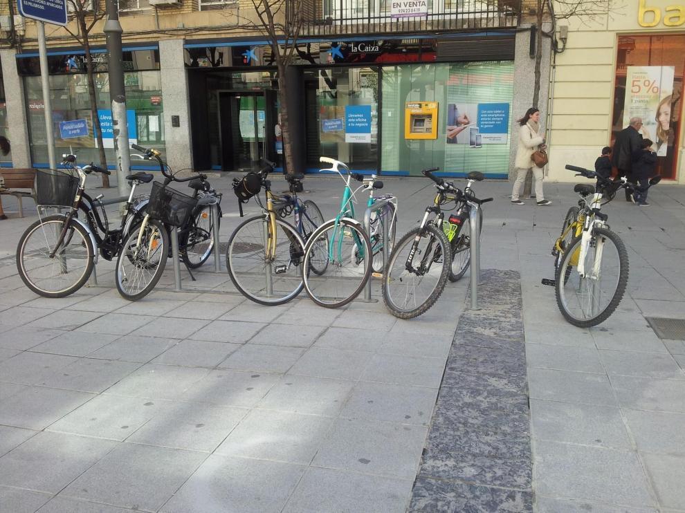 Huesca contará con veinte nuevos módulos de aparcabicicletas