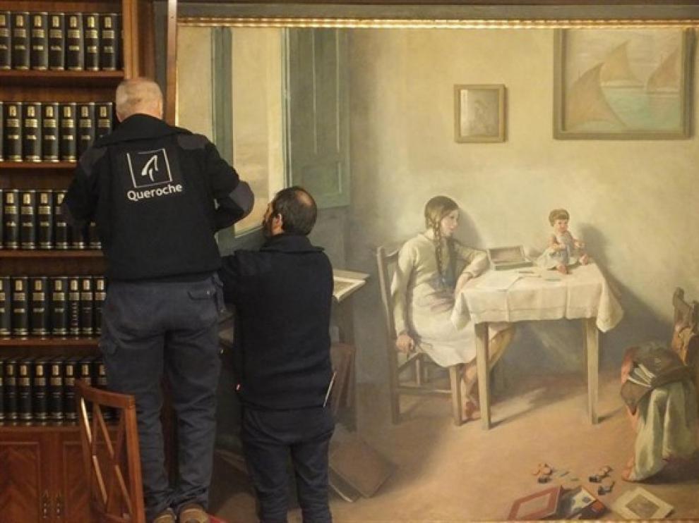 La Cámara de Comercio de Huesca devuelve al Museo 'Reina Sofía' un cuadro de Gerardo de Alvear