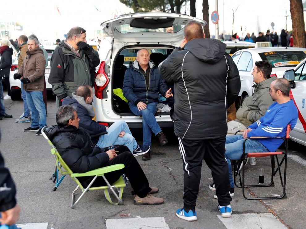 Los taxistas de Madrid mantendrán una huelga indefinida