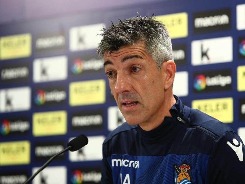 """Imanol Alguacil, técnico de la Real: """"El Huesca es un equipo competidor"""""""