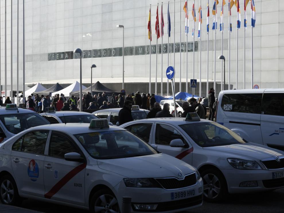 La huelga de los taxistas de Madrid suma ya su sexto día