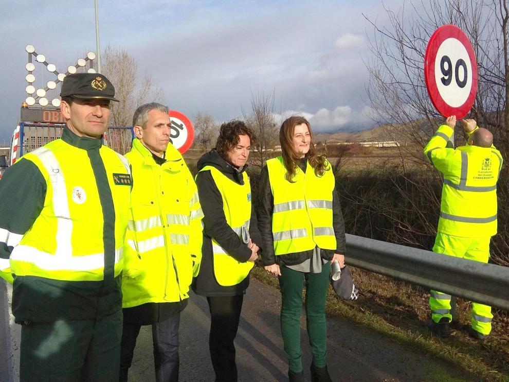 Reducen la velocidad máxima en más de 240 kilómetros de carreteras de Huesca para reducir la siniestralidad